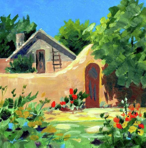 Painting - Santa Fe Sunlight  by Adele Bower