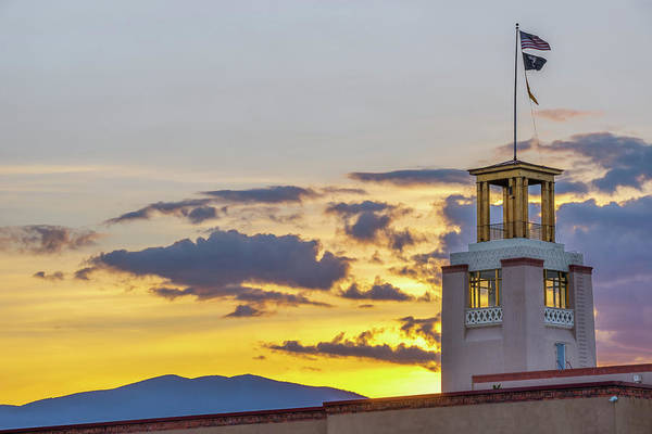 Photograph - Santa Fe Sunrise - Bataan Memorial - New Mexico by Gregory Ballos