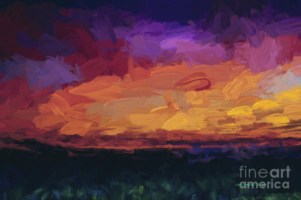 Digital Art - Santa Fe Sunset by Charles Muhle