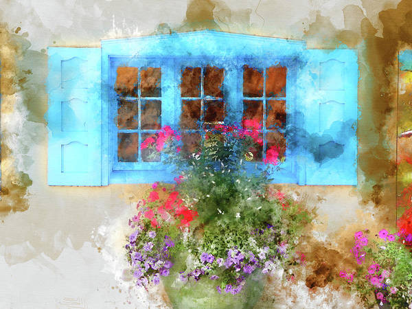 Brick House Mixed Media - Santa Fe Window 2 by Kevin O'Hare