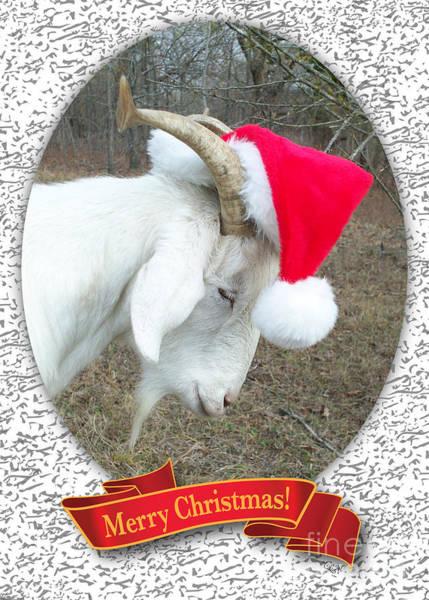 Santa Goat Art Print