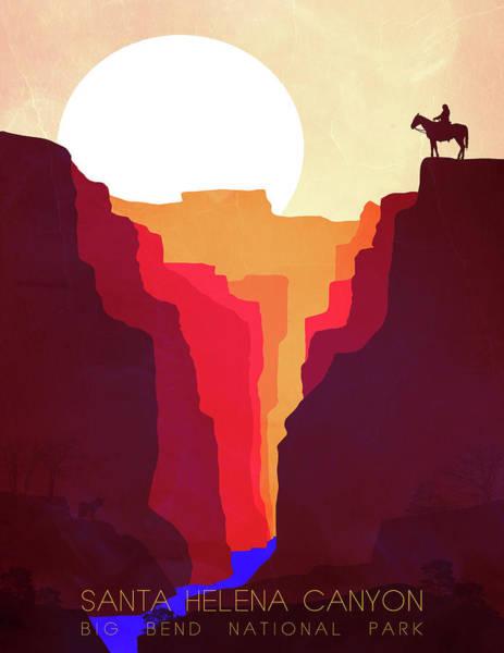 Sunrise Wall Art - Painting - Santa Helena Canyon 1  by Diana Van