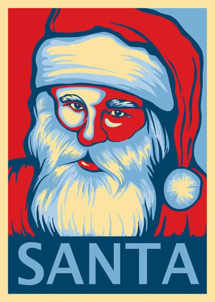 Christmas Digital Art - Santa Hope by David Kyte