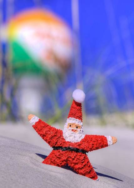 Wall Art - Photograph - Santa In Pensacola Beach Florida by JC Findley