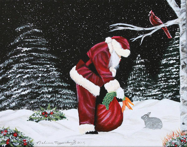 Painting - Santa Loves All Creatures by Melissa Toppenberg
