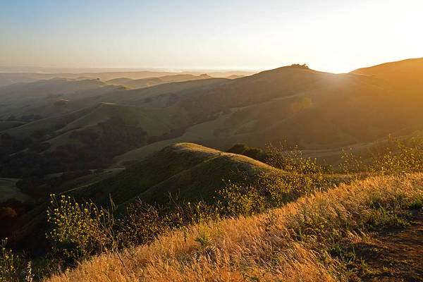 Cambria Photograph - Santa Lucia Highlands Sunset by Kathy Yates