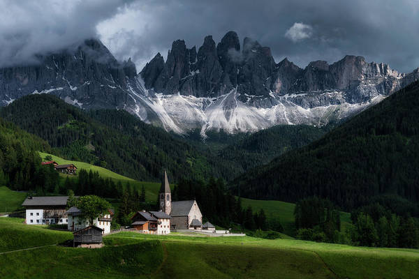 Photograph - Santa Maddalena And Odle Mountain Group - Italy by Nico Trinkhaus