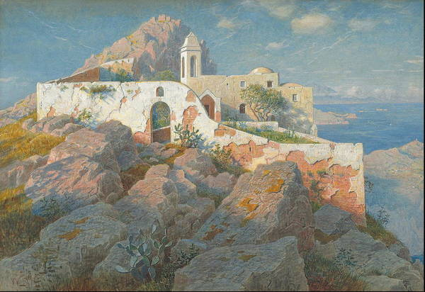 Wall Art - Painting - Santa Maria A Cetrella, Anacapri C.  by William Stanley Haseltine