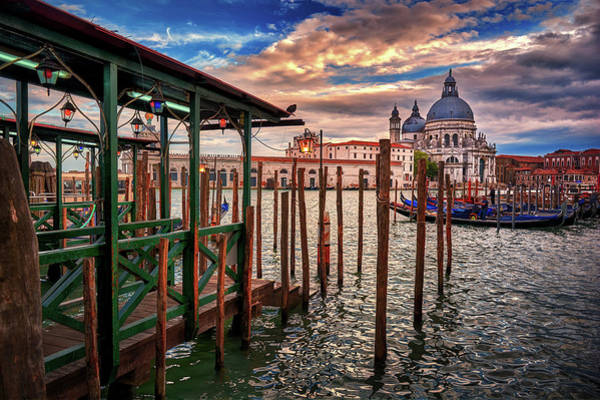 Photograph - Santa Maria Della Salute From The Docks In Venice, Italy by Fine Art Photography Prints By Eduardo Accorinti