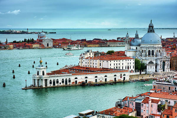 Photograph - Santa Maria Della Salute From The Bell Tower In Venice by Fine Art Photography Prints By Eduardo Accorinti