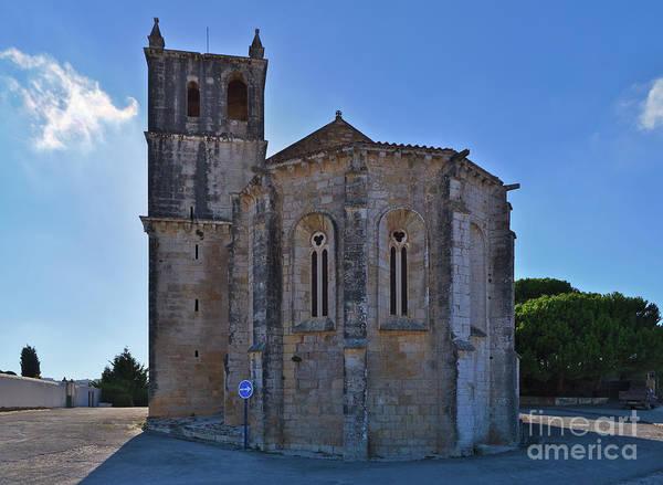 Santa Maria Do Carmo Church In Lourinha. Portugal Art Print