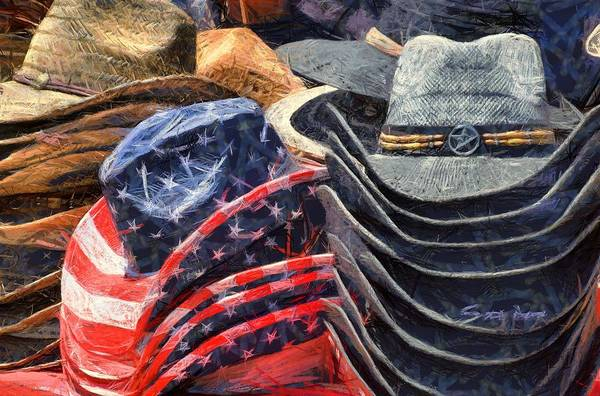 Photograph - Santa Maria Elks Rodeo Cowboy Hats Abstract by Floyd Snyder