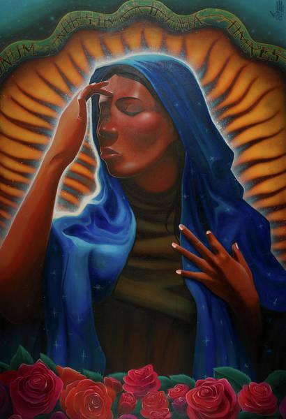 Virgin Digital Art - Santa Maria by Nelson Dedos Garcia