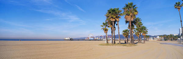Santa Monica Pier Photograph - Santa Monica Beach Ca by Panoramic Images