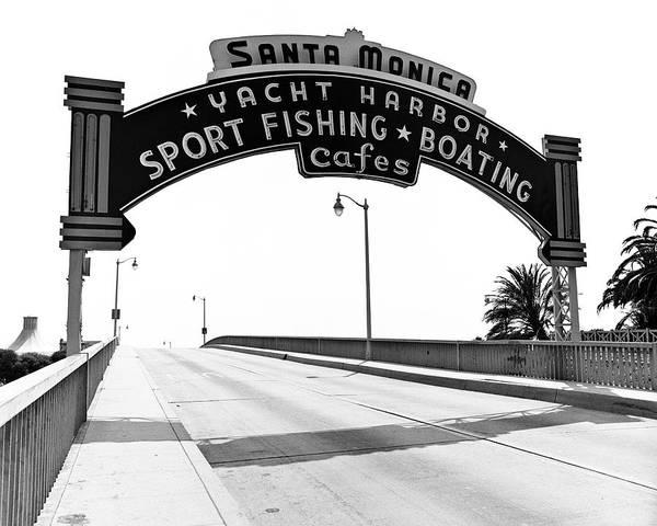 Santa Monica Pier Photograph - Santa Monica Pier Arch by Joe  Palermo
