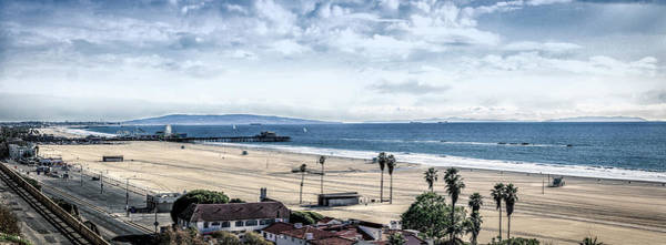 Photograph - Santa Monica Pier Desaturated - Panorama by Gene Parks