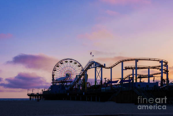 Photograph - Santa Monica Pier Fun At Sunset by David Levin