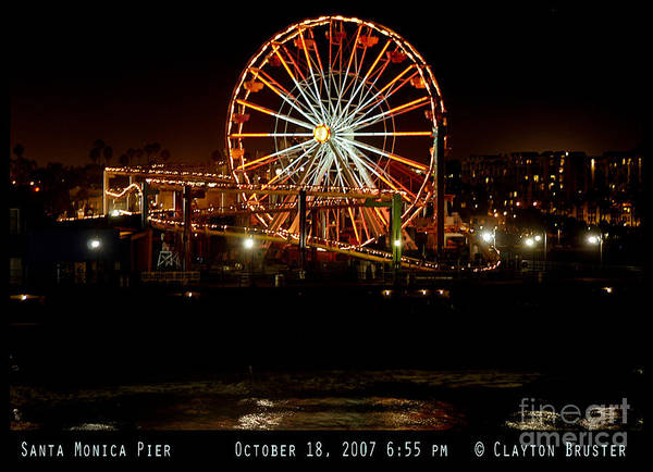 Photograph - Santa Monica Pier October 18 2007  by Clayton Bruster