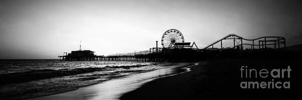 Santa Monica Pier Photograph - Santa Monica Pier Panorama Photo by Paul Velgos