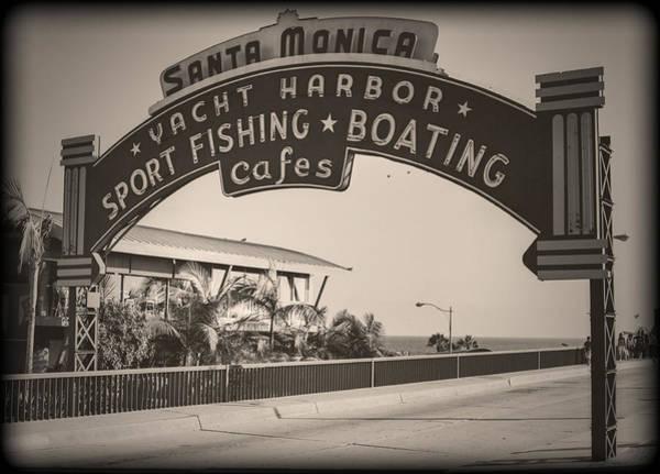 Wall Art - Photograph - Santa Monica Sign Series Modern Vintage by Ricky Barnard