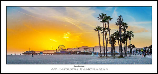 Angeles Photograph - Santa Monica Sunset Poster Print by Az Jackson