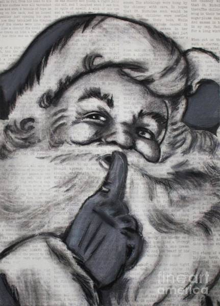 Drawing - Santa On T'was The Night Before Christmas by Michael Cross
