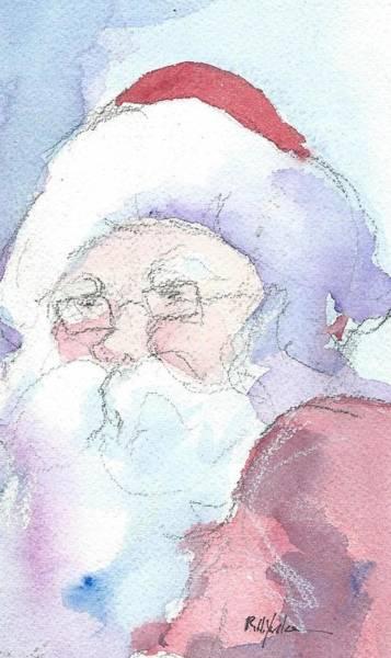 St Nicholas Painting - Santa  by Robert Yonke