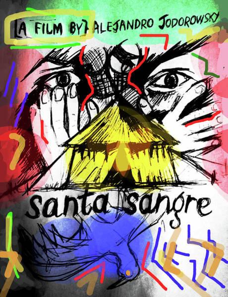 Drawing - Santa Sangre 2 Poster  by Paul Sutcliffe