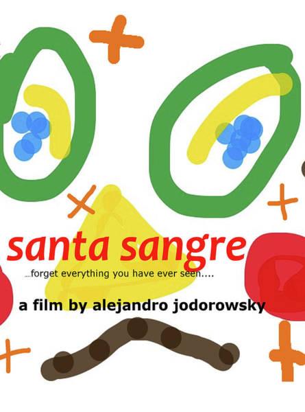 Drawing - Santa Sangre Poster  by Paul Sutcliffe