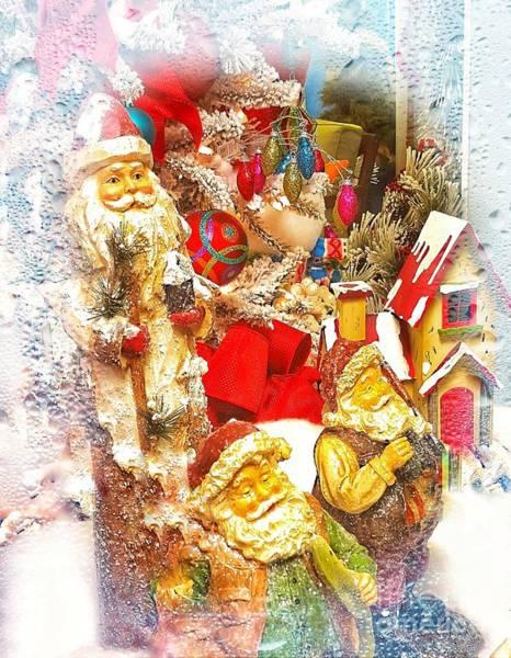 Photograph - Santa Scene 1 by Rachel Hannah