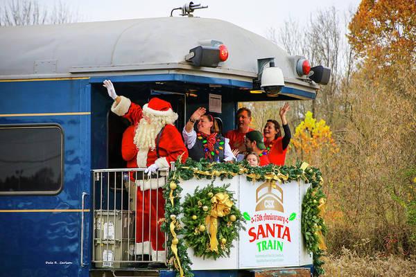 Photograph - Santa Train 75th by Dale R Carlson