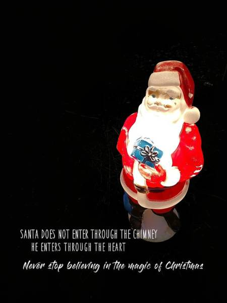 Photograph - Santa Truths Quote by Jamart Photography