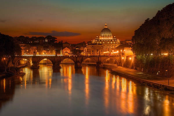Photograph - Sant'angelo Bridge by Peter Kennett