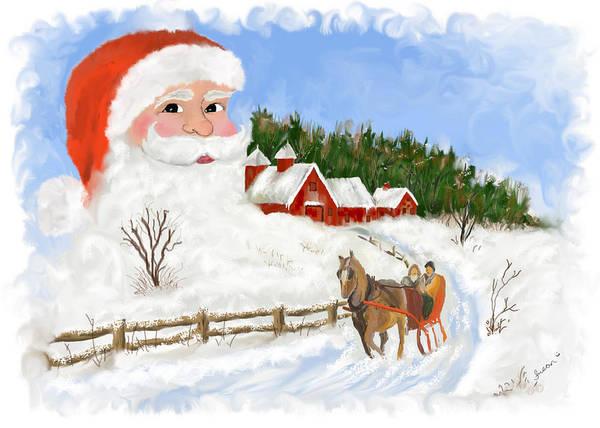 Painting - Santas Beard by Susan Kinney