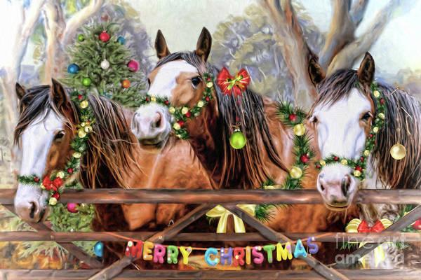 Wall Art - Digital Art - Santa's Helpers by Trudi Simmonds