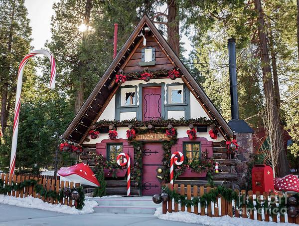 Photograph - Santa's House by Eddie Yerkish
