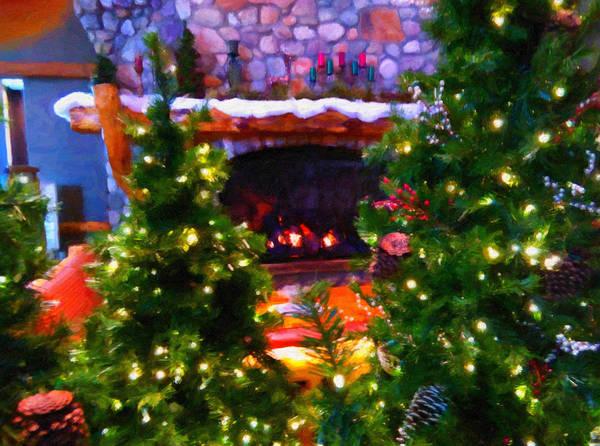 Digital Art - Santa's Living Room by Chris Flees