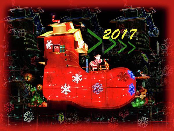 Digital Art - Santa's Magic Stocking by Xueling Zou