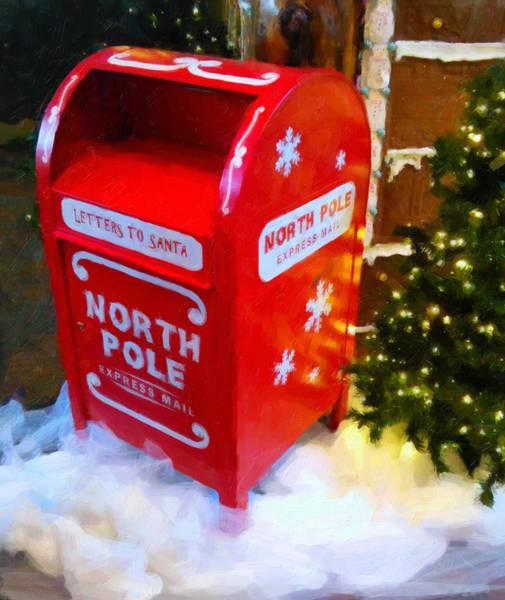 Digital Art - Santa's Mail Box by Chris Flees