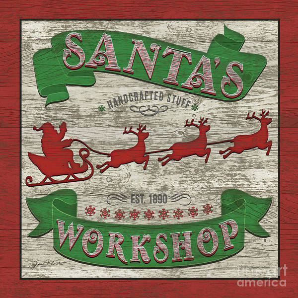 Wall Art - Digital Art - Santa's Workshop by Jean Plout