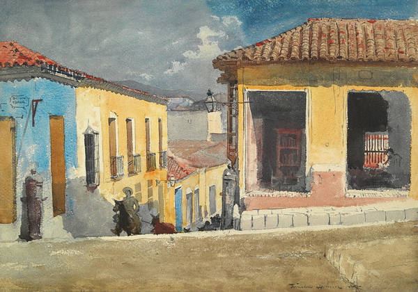 Wall Art - Painting - Santiago Cube - Street Scene by Winslow Homer