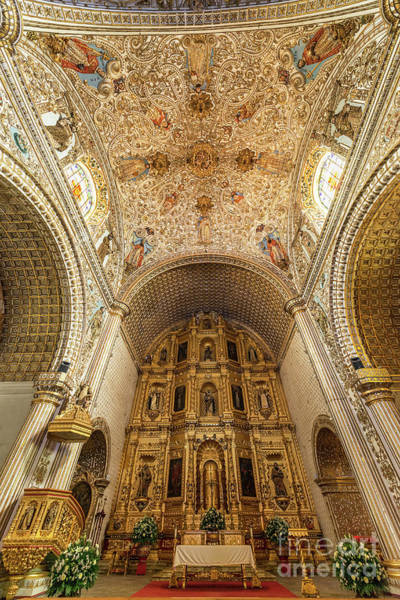 Wall Art - Photograph - Santo Domingo Church Interior by Jess Kraft