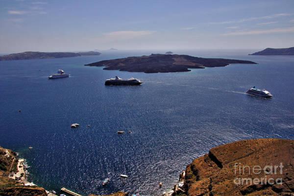 Photograph - Santorini Caldera by Jeremy Hayden