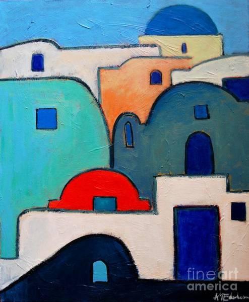 Painting - Santorini Cityscape by Ana Maria Edulescu
