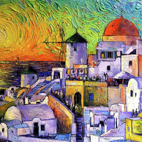 Wall Art - Painting - Santorini Colors by Mona Edulesco