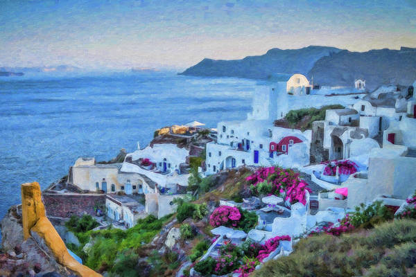 Painting - Santorini Greece Dwp416136  by Dean Wittle