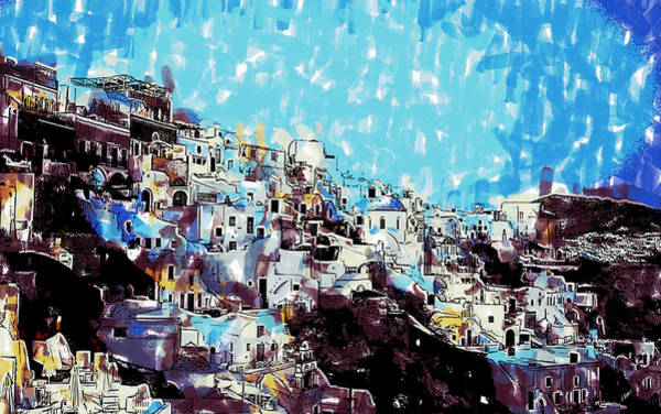 Painting - Santorini Island by Dean Wittle