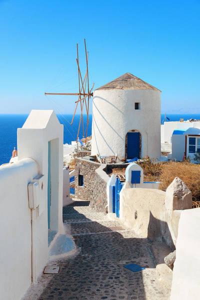 Photograph - Santorini Island Windmill by Songquan Deng