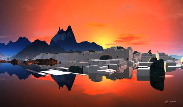 Wall Art - Digital Art - Santorini Sunrise  by Heinz G Mielke