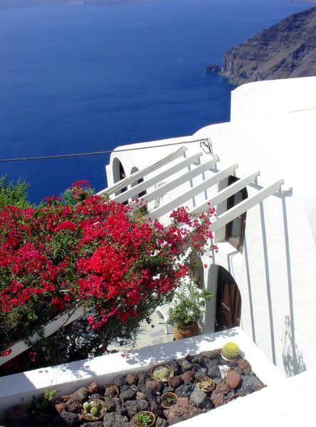 Photograph - Santorini Villa  by Julie Palencia